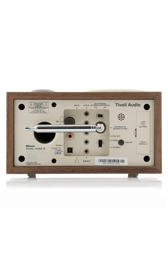 Rádio de mesa FM/AM c/ Bluetooth Tivoli Audio MODEL THREE beije/walnut