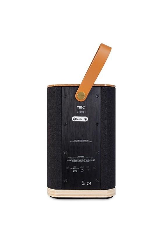 Coluna de Streaming WiFi Portátil com Bluetooth Tibo VOGUE 1 nogueira