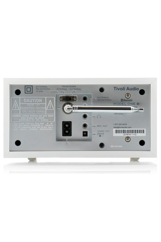 Rádio de mesa FM/AM c/ Bluetooth Tivoli Audio MODEL ONE BT branco/cinza