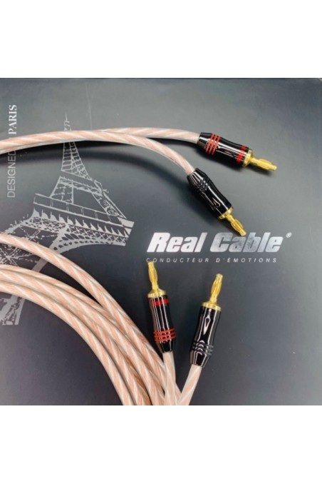 Cabo de Coluna  3m (par) com Bananas - Real Cable PRESTIGE 400