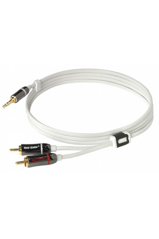 Cabo Jack 3,5mm/RCA Stereo - Real Cable IPLUG-J35M2M - 3 metros