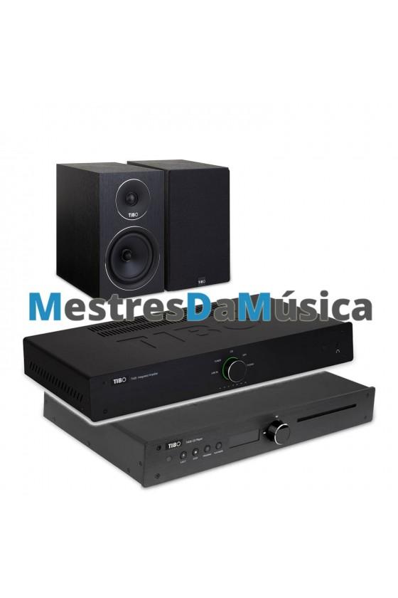 Pack Amplificador + Leitor CD + Colunas Tibo