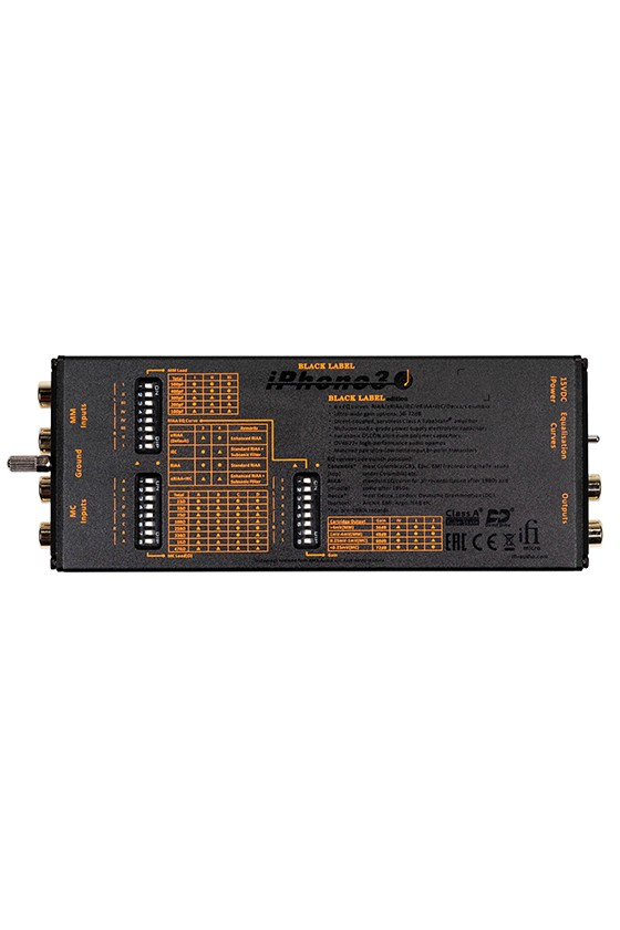 iFi micro iPHONO3 Black Label, Amplificador de Gira-discos
